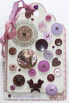 Button Collection Tag - Card Keepsake