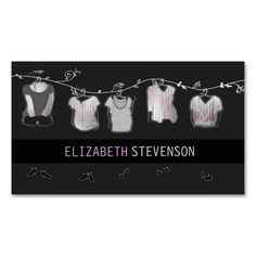 Fashion Stylist Designer Wardrobe Boutique Double-Sided Standard Business Cards (Pack Of 100). This is a fully customizable business card and available on several paper types for your needs. You can upload your own image or use the image as is. Just click this template to get started!