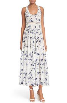 Rebecca Taylor 'Meteor' Print Silk Maxi Dress