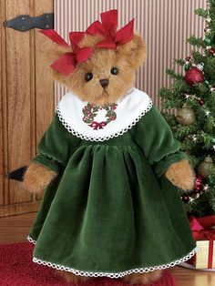 Product Detail - Hannah Hollybeary Vintage Teddy Bears, Cute Teddy Bears, Christmas Teddy Bear, Red Christmas, Christmas Ideas, Yule, Teddy Bear Clothes, Bear Pictures, Boyds Bears