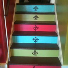 My painted stairs