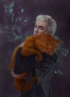 Crookshanks and Draco by just-orson on DeviantArt Draco Harry Potter, Harry Potter Anime, Arte Do Harry Potter, Harry Potter Artwork, Harry Potter Ships, Harry Potter Pictures, Harry Potter Universal, Harry Potter Characters, Hermione Granger