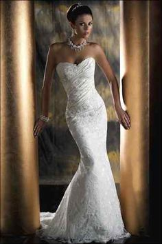 form fitting wedding dress