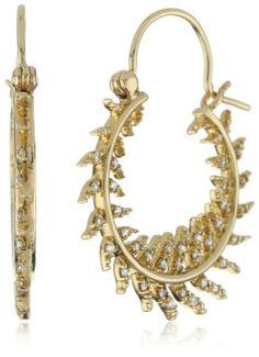 Amazon.com: Mizuki 14k Round Quill Diamond Hoop Earrings: Jewelry