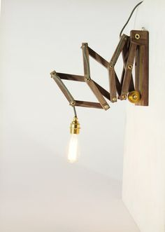 Crane Lamp Wall   Walnut