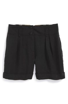 Girl's Burberry 'Chadderton' Pleated Shorts