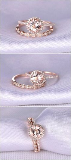 Morganite Engagement ring / http://www.himisspuff.com/engagement-rings-wedding-rings/6/