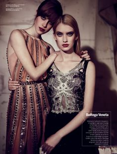 spring/summer 2013: sojourner morrell and sofya titova by for vogue turkey february 2013 | visual optimism; fashion editorials, shows, campaigns & more!