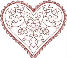 Riscos para bordado - corações