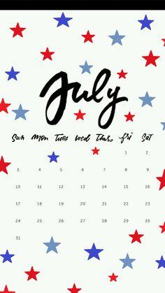 LuvNote2 July Calendar Wallpapers Wallpaper 2016 Locked Holiday