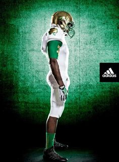 adidas and the University of Notre Dame today unveiled alternate TECHFIT football uniforms the Irish will wear on October 5 for their annual Shamrock Series game. Notre Dame will face off against Arizona State in this year's Shamrock Series game at Cowboy Stadium in Arlington, Texas.  (Adidas)