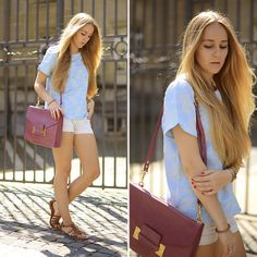 """The source for fashion inspiration from real people around the world. Community """"hype"""" promotes looks to the front page. Sophie Hulme, Zara Tops, Baby Blue, Chloe, Cool Hairstyles, Cute Outfits, Dressing, Shoulder Bag, Style Inspiration"""