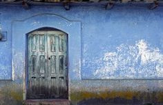 blue doors...blue walls...is that the number 5...