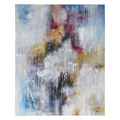 """Abstract Painting  Hand-painted on canvas - Silver frame  Dimensions: 41.5"""" x 51.5"""" x 2.5""""  Artist: Ksenia Sizaya"""