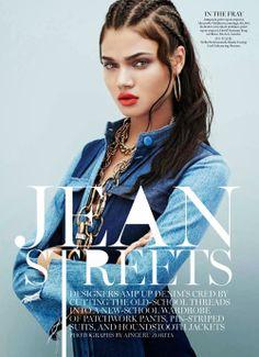 visual optimism; fashion editorials, shows, campaigns & more!: jean streets: daniela braga by aingeru zorita for us marie claire november 2013