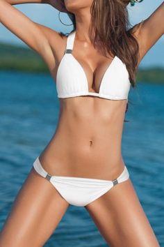 Neckholder Bikini White