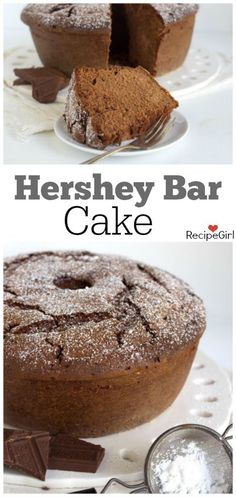 Hershey Bar Chocolate Cake Recipe - RecipeGirl.com