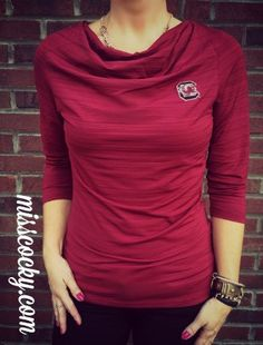 University of South Carolina Cutter and Buck Highland Park Cowl Neck - Miss Cocky
