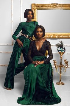 "fuckyeahafricans: ""Nigerian Fashion designers, Nigerian photographers, Nigerian models and make up artists are not to be messed with. they aren't here to play. Black Girl Fashion, Look Fashion, Fashion Outfits, Womens Fashion, Green Fashion, Winter Fashion, African Women, African Fashion, Nigerian Fashion Designers"