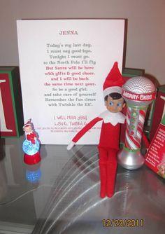 Elf on the Shelf : Goodbye Letter