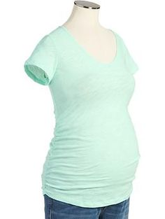 Maternity Slub-Knit V-Neck Tees | Old Navy