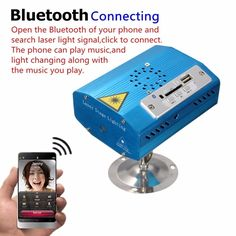 Mini Bluetooth R&G Laser Light USB SD Projector Disco Stage Xmas Party DJ Club Sale-Banggood.com