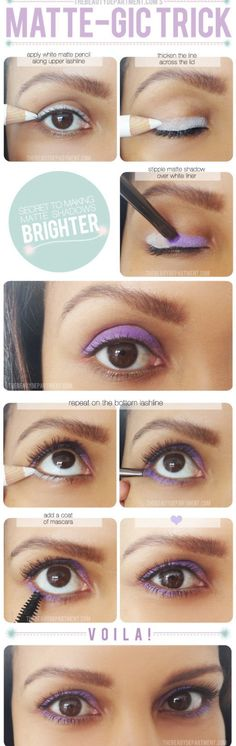 12 Tips for A Perfect Eye Shadow Makeup: #No.9 White Eye Liners Can Make Colors Strong