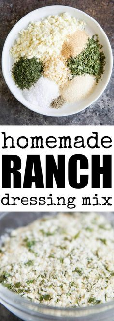 Skip the store-bought packets and know EXACTLY what you're getting with this easy Homemade Ranch Dressing Mix! Makes the equivalent of one packet. via @culinaryhill