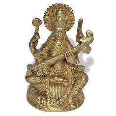 Amazon.com - Hindu Goddess Saraswati Brass Statue Christmas Gifts - Collectible Figurines