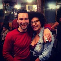 Aidan with a lucky fan in Bristol
