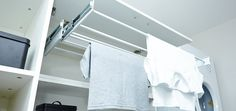 Find tips to transform your laundry with Bunnings Warehouse. Visit our DIY advice section for step by step tutorials, DIY inspiration and lots more. Laundry Hanging Rack, Hanging Clothes Racks, Laundry Rack, Laundry Cabinets, Clothes Drying Racks, Hanging Racks, Drying Cupboard, Clothes Line, Indoor