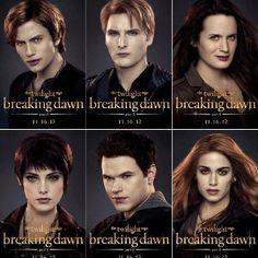 Jasper Hale, Carlisle Cullen, Esme Cullen, Alice Cullen, Emmett Cullen and Rosalie Hale. <3