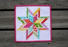 Lone Starburst Mini Quilt   Flickr - Photo Sharing!