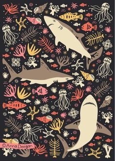 Oceanica by Anna Deegan, via Behance