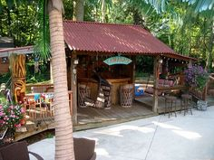 Best Perfect Tiki Patio Design Ideas Ideas & Relateds Product - Home Design Backyard Beach, Backyard Paradise, Backyard Landscaping, Outdoor Tiki Bar, Outdoor Decor, Outdoor Bars, Outdoor Spaces, Outdoor Living, Design Patio