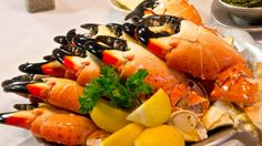 Stone crab claws at the famous Joe's Stone Crab restaurant in Miami Beach