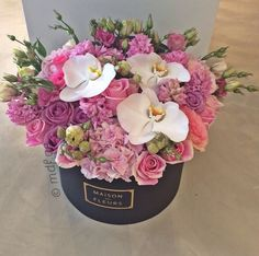 Shades of Pink - Pic 2 💖 Amazing Flowers, My Flower, Fresh Flowers, Beautiful Flowers, Bouquet Box, Hand Bouquet, Beautiful Flower Arrangements, Floral Arrangements, Luxury Flowers