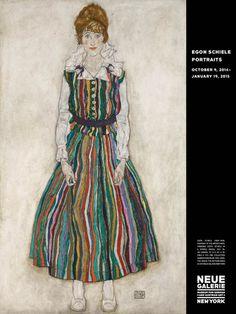 Egon Schiele: Portraits, Exhibtion Poster