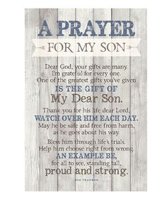 This Dexsa | 'Prayer for My Son' Wood Plaque by Dexsa is perfect! #zulilyfinds