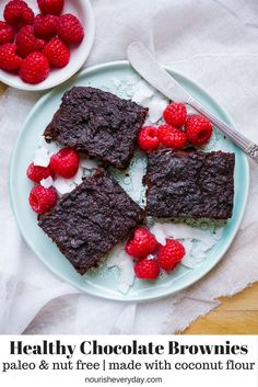 Paleo Chocolate Brownies (grain free, dairy free, nut free) - this easy healthy brownie recipe is packed full of hidden veggies! Refined sugar free. Recipe via nourisheveryday.com