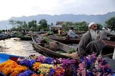 Floating flower market on the serene waters of Dal lake  !!