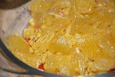 Королевский салат из крабовых палочек с апельсином