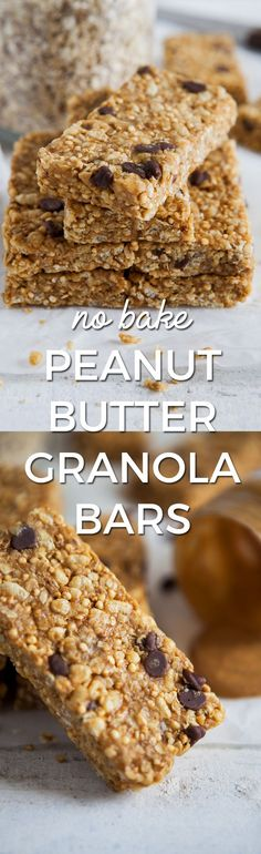 No bake peanut butter granola bars / Vegan, gluten-free & refined sugar-free / Goodness is Gorgeous