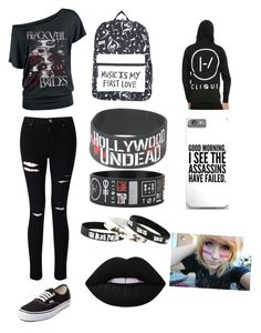 """""""Anna out and about"""" by anngel24 ❤ liked on Polyvore featuring Miss Selfridge, Vans and Lime Crime"""