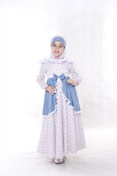 busana muslim anak aini an 120503 biru - butik aini