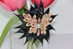 Butterfly on a flower clip celebration by YourUniqueCreations