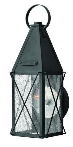 FX3C - One Light Black Wall Lantern