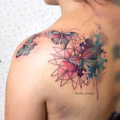 Image result for upper back shoulder tattoos for women