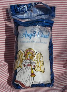 Spun Glass Angel Cloud Angel Hair, 2 ounce bag, Vintage Christmas Decoration