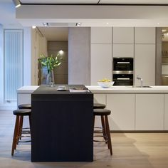 The Sleek Handleless Beauty Of A Bulthaup Kitchen In Alpine White With  Miele Appliances And Carl Hansen U0026 Son Furniture   Hobsons